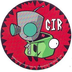 Invader Zim Gir Dogsuit Sticker Jhonen Vasquez