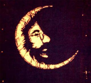 Grateful Dead Decal Jerry Garcia Face in Moon Sticker