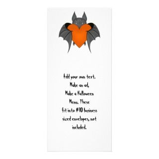 Funny amorous Halloween vampire bat Rack Cards