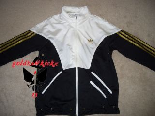 Adidas Original Warmup Track Jacket M Jeremy Scott Black Gold Firebird