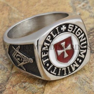 Knight Templar Masonic Ring Scottish Soldiers Cross Signet Jewelry