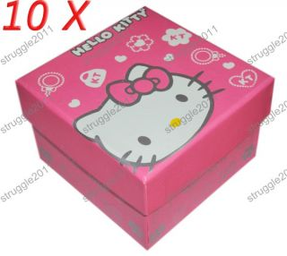 10 Pcs Hello Kitty Box Gift for Watch Necklace Jewelry Beautiful Trend