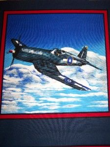 Airplane Fighter Jet P77 Accent Pillow Sham 14x14