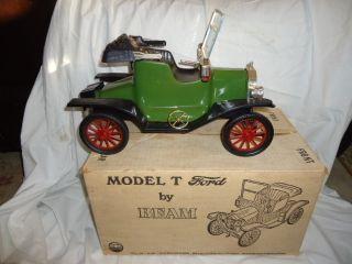 Jim Beam Model T Ford 1913 Decanter Automobile Car Empty Green