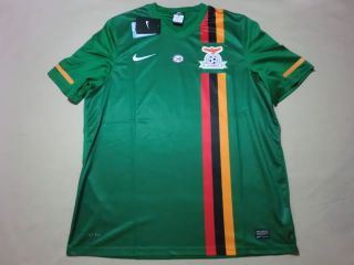 RARE New Official Zambia Soccer Jersey Football Shirt 2012 Nations Cup