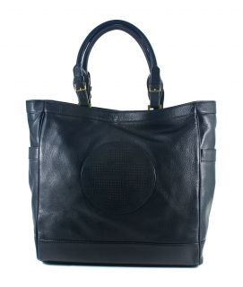 Tory Burch Kipp Tote Black Leather Large Bag Handbag New
