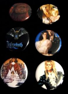 The Labyrinth Pins Buttons David Bowie Jim Henson