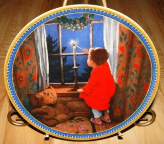 Jessie Willcox Smith Childhood Holiday Memories Christmas Plate