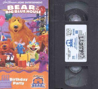 Bear Big Blue House Happy Birthday V 1 7 VHS