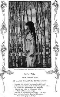 Jessie Willcox Smith Alice Williams Brotherton Poem Spring Original