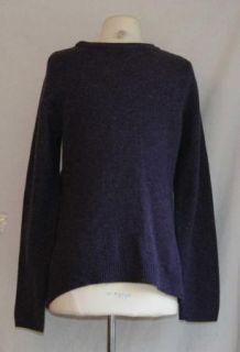 Anthropologie Moth Purple Wool Cardigan Sweater Large L