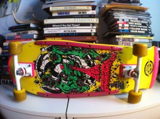 Santa Cruz Rob Roskopp 4 Skateboard Vintage 1986 1987 Jim Phillips