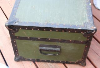 Antique Samson Foot Locker Chest Trunk WWI Army Vet