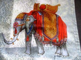 Jim thompson black elephant cotton t shirt top sz s for Thai silk jim thompson