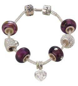 Rhona Sutton Sterling Silver Charm Bracelet Gift Box Edition Set