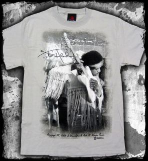 Jimi Hendrix Woodstock Guitar Silver Gray T Shirt Official Fast SHIP