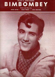 1958 Bimbombey Sheet Music Jimmie Rodgers Photo