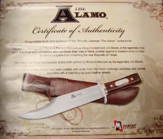 Authorized Jim Bowie Knife Movie Replica The Alamo Richard Widmark