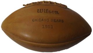 1963 NFL Champs Bears 50 Signed Football George Halas Sid Luckman Mike