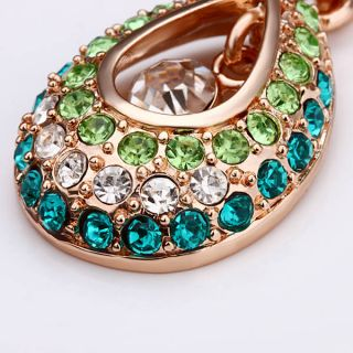 Pendant Necklace Rhinestone Crystal Lady Fashion Jewellery / Green