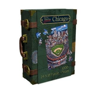 New Master Pieces Chicago Wrigley 1000 PC Jigsaw Puzzle