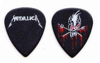 Metallica James Hetfield Scary Guy Black Guitar Pick 2012 Tour