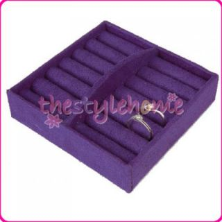 Large Capacity Purple Noble Jewelry Box Storage Case w Lock New