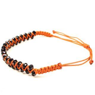 Black Womens Cute Fashion Beaded Braided Adjustable Bracelet