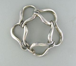 Modernist Joachim sPaliu Spain Sterling Silver Large Teardrop Chain