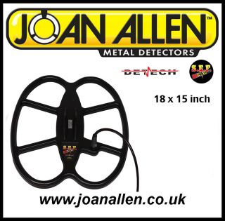 Detech SEF 18 x 15 Coil for Minelab E Trac Explorer Safari Metal