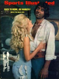 JOE NAMATH Sports Illustrated August 17, 1970 NEW YORK JETS/HONDA MINI