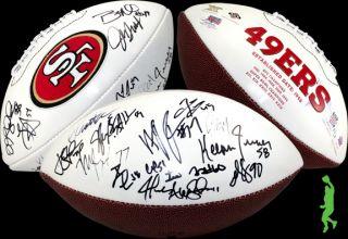 FRANCISCO 49ERS TEAM SIGNED WILSON NFL FOOTBALL JIM HARBAUGH SMITH COA