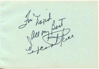 Vincent Price Vintage 1970s Original Signed Album Page Autographed