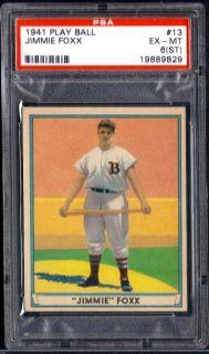 1941 Play Ball 13 Jimmie Foxx Red Sox EX MT PSA 6 St