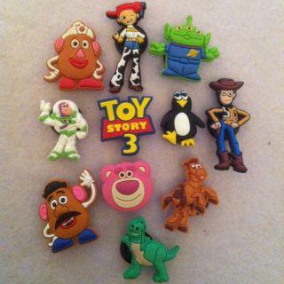 Shoe Charms Fit Crocs Jibbitz Lot Set of 11 Toy Story