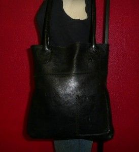 Jill Large Black Leather Satchel Tote Shopper Shoulder Purse Bag