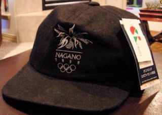 Vtg NAGANO1998 Joc Naoc Official Olympic Hat Cap New