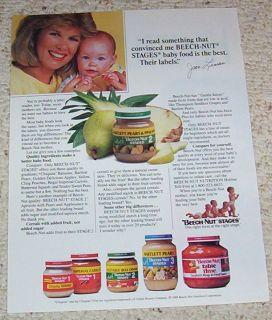1991 Ad Joan Lunden Beech Nut Baby Food Advertisement