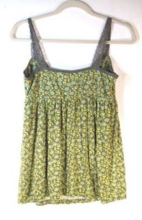 Pinkerton Anthropologie Womens Cute Green Yellow Modal Tank Top Shirt
