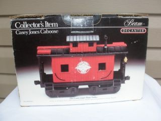 Jim Beam Collector Decanter Casey Jones Caboose Train Car New in Box