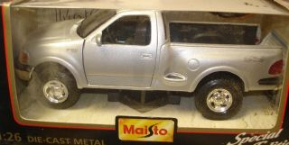 1997 Ford F 150 Flareside Pick Up Truck Die Cast Model Silver