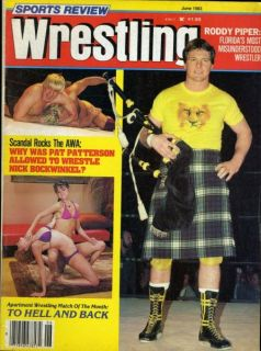Roddy Piper Women Sports Review Wrestling June 1983 Apartment