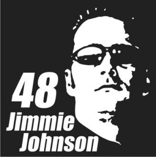 Jimmy Johnson 48 NASCAR Vinyl Decal Sticker
