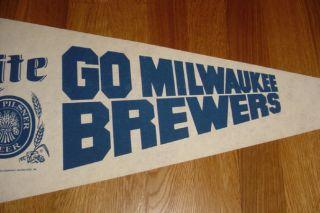1982 Milwaukee Brewers World Series Pennant Miller Lite