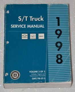 2000 Chevrolet Astro Van, GMC Safari Van Factory Service Manuals