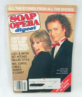 Soap Opera Digest March 31 1981 Joan Van Ark Judith Light Tony Geary