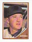 1962 Topps #337 JIM MARSHALL Card SIGNED New York Mets Baseball