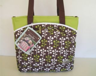 JJ Cole Collections Method Diaper Stroller Bag Brown Green White