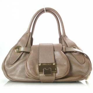 Jimmy Choo Leather Rhona Bag Purse Tote Metallic