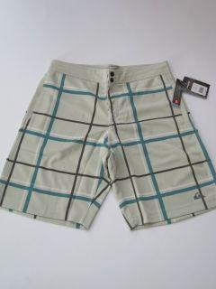 Dash Mesh Boardshorts Quiksilver Light Green Plaid Board Shorts Short